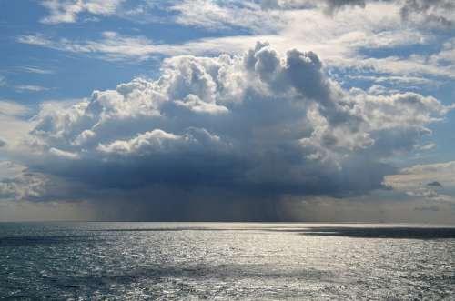 Sea Rain Cloud Ocean Water Sky Weather