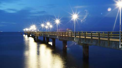Sea Baltic Sea Beach Sea Bridge Blue Water Usedom