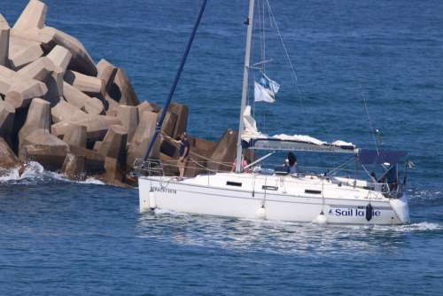 Sea Sail Bos Sailing Sailboat Boat Summer Sunset