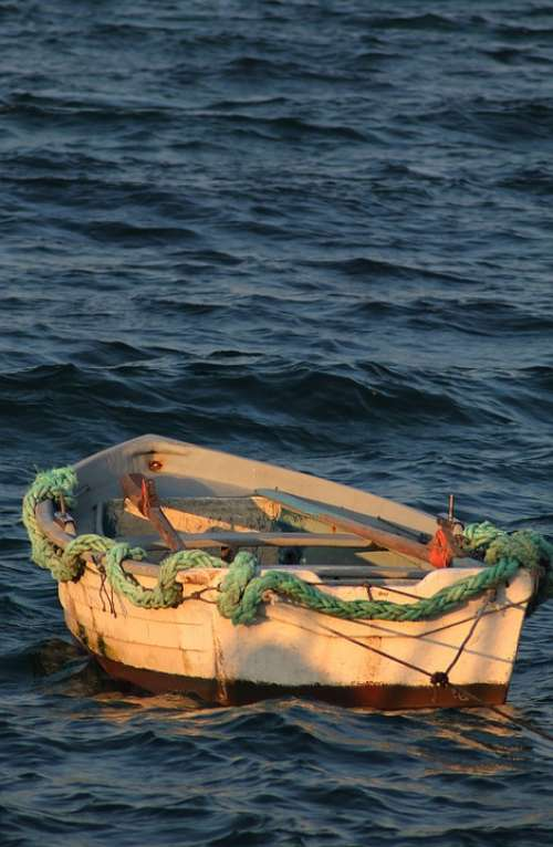Sea Barca Beach Boat Fisherman Blue Summer