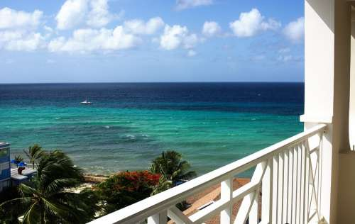 Sea Caribbean Water Travel Summer Horizon Blue