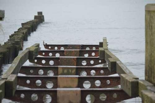 Sea Metal Rusty Web Old Baltic Sea
