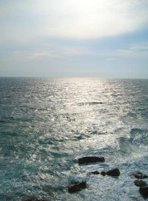 Sea Sun Water Ocean Nature Beach Wave Horizon