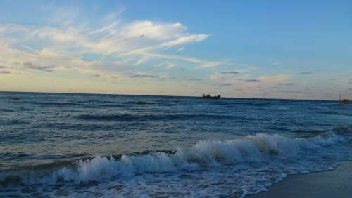 Sea Sunset Holidays Sky The Coast Wave Beach