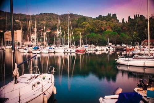 Sea Sun Water Boats Vela Sunset Waves