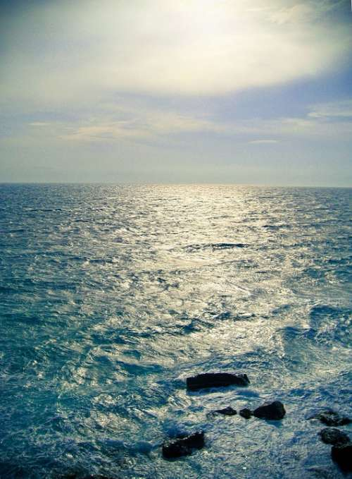 Sea Wave Ocean Water Blue Travel Landscape Coast
