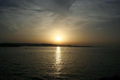 Sea Sunset Waterfront Reflection Cozy Nature