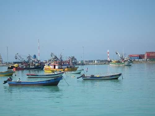 Sea Ocean Boats Fishing Boat