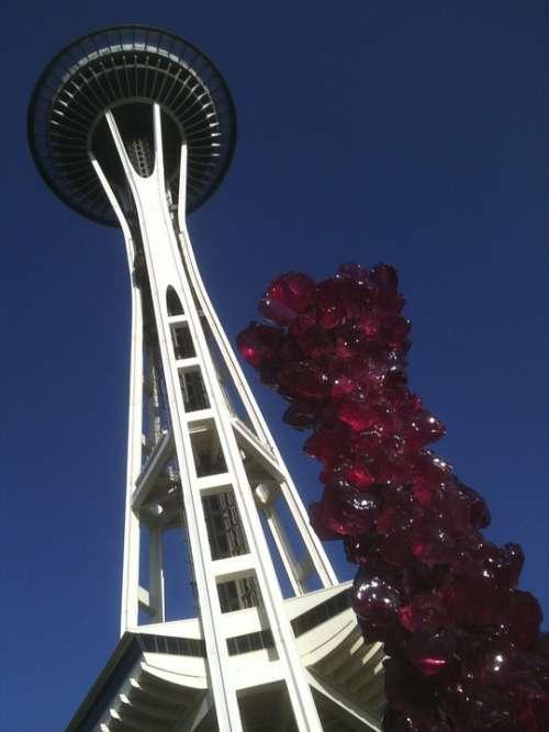 Seattle Space Needle Landmark Washington Skyline