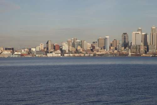 Seattle Skyline City Downtown America Architecture