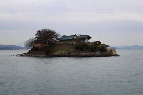 Section Island Sea Sky Winter To Landscape