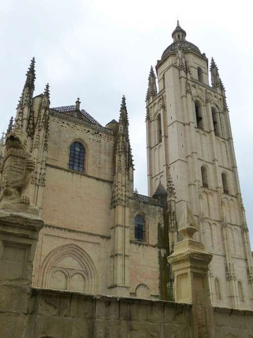 Segovia Cathedral Spain Historic Center Castile