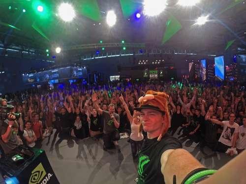 Selfie Man Person Gopro Gamescom Nvidia Concert