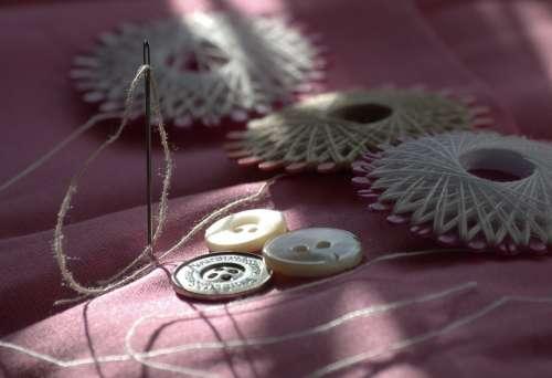 Sew Yarn Needle Button Hand Labor Sewing Thread