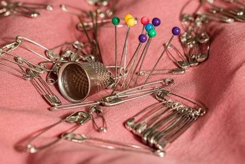 Sewing Thimble Pins Safety Pins Needle Mending