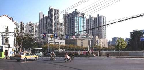 Shanghai Building Driveway Architecture City Urban