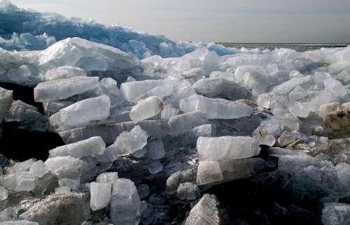 Shelf Ice Urk Ijsselmeer Ice Floes Ice Winter