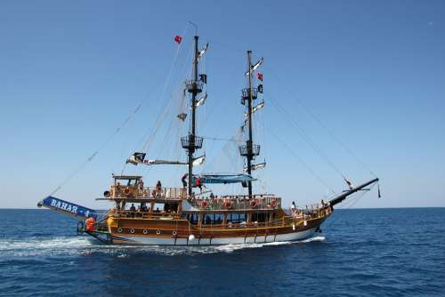Ship Sea Turkey Pirates Ocean Summer Vacations