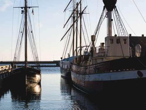 Ships Ocean Denmark Coast Ship Sea