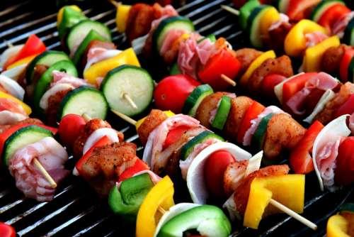 Shish Kebab Meat Skewer Vegetable Skewer