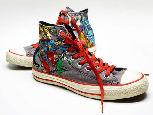 Shoe Canvas Sneakers Casual Converse Super Hero