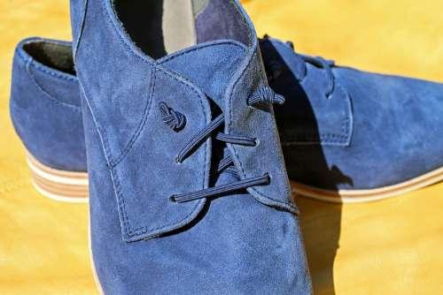 Shoe Leather Pair Suede Shoe Shoelace Knot