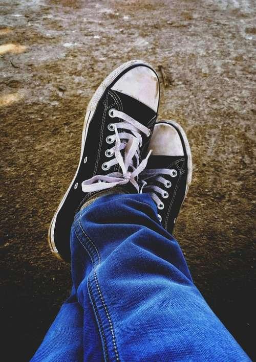 Shoe Converse Jeans Blue Jeans Adventure Steps