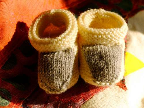 Shoes Knitt Baby Wool Knitting Craft Homemade