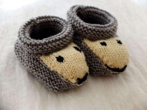 Shoes Baby Knitt Wool Knitting Craft Homemade