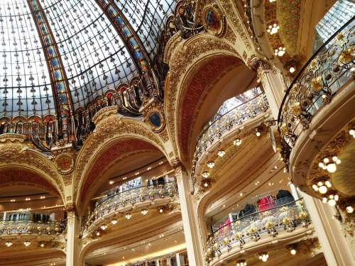 Shops Dome Stained Glass Windows France Interior