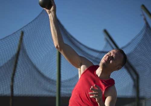Shot Putter Athlete Sport Putter Strength Strong