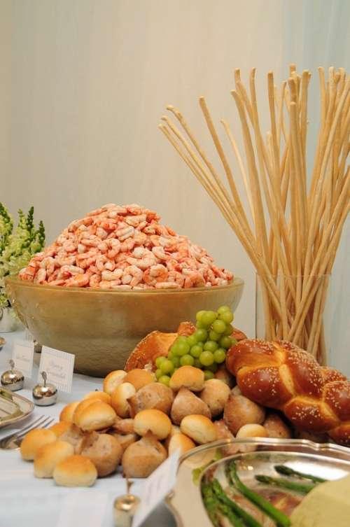Shrimp Table Food Gourmet Paella Seafood Healthy
