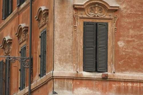 Shutters Wall Ochre Italy