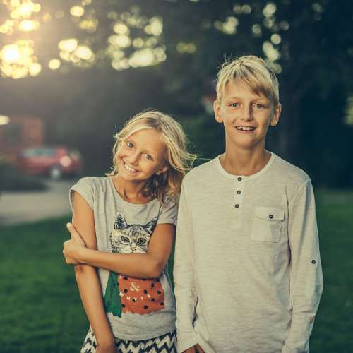 Siblings Brother Sister Friends Boy Girl Children