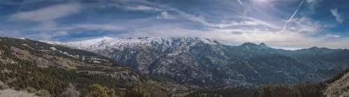 Sierra Nevada Panorama Landscape Nature Mountain