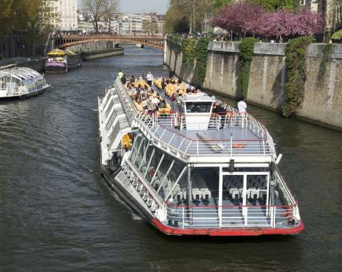 Sightseeing Boat Excursion Boat Seine River Paris