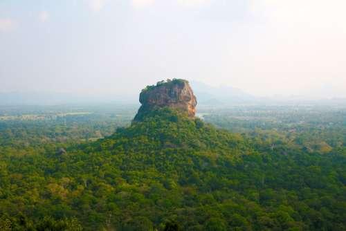 Sigiriya Sri Lanka Travel Rock Tourism Landscape