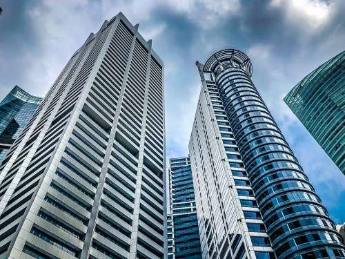 Singapore City Modern Architecture Glass