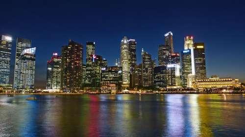 Singapore River Skyline Building Water