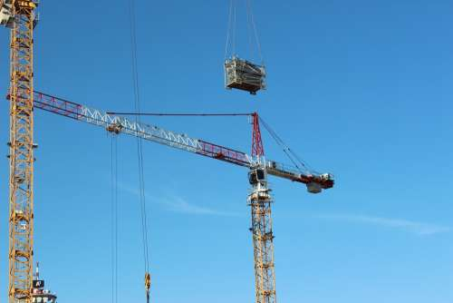 Site Baukran Crane Technology Construction