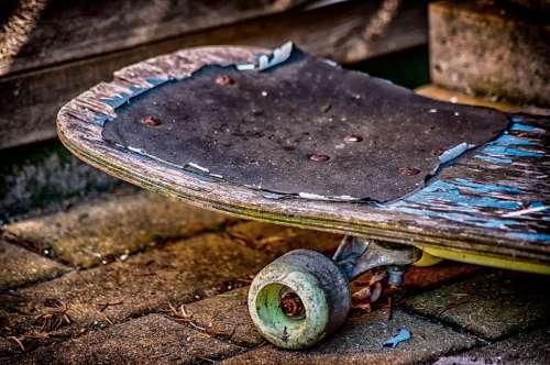 Skateboard Old Dirty Grunge Paint Peeling Rust