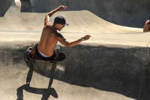 Skateboarding Skateboarder Skateboard Action Fun