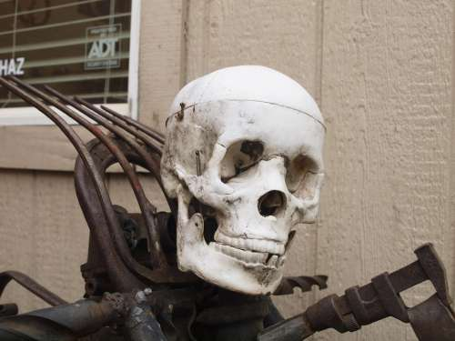 Skull And Crossbones Motorcycle Skeleton California