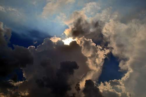 Sky Light Cloudy Miracle Beauty Beautiful Sun