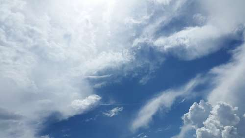 Sky Clouds Atmosphere Air Oxygen Freedom Sky Blue