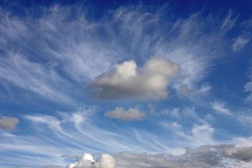 Sky Background Clouds Mood Weather Blue