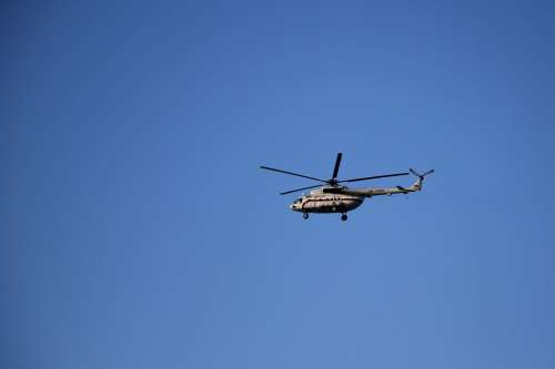 Sky Blue Helicopter Weather Atmosphere To Watch