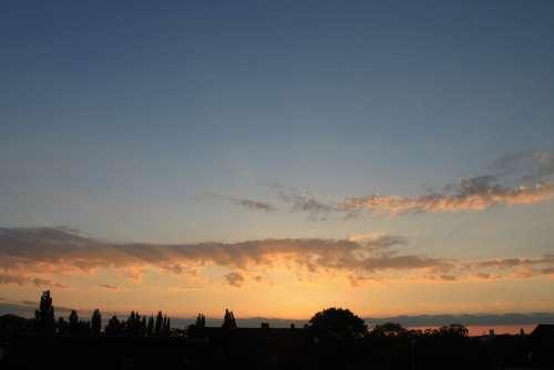 Sky Evening Sky Clouds Sunset
