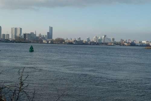 Skyline Rotterdam River New Mesh View Port