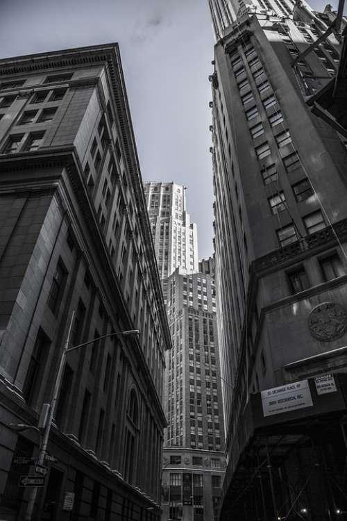 Skyscrapers New York City Centre Metropole